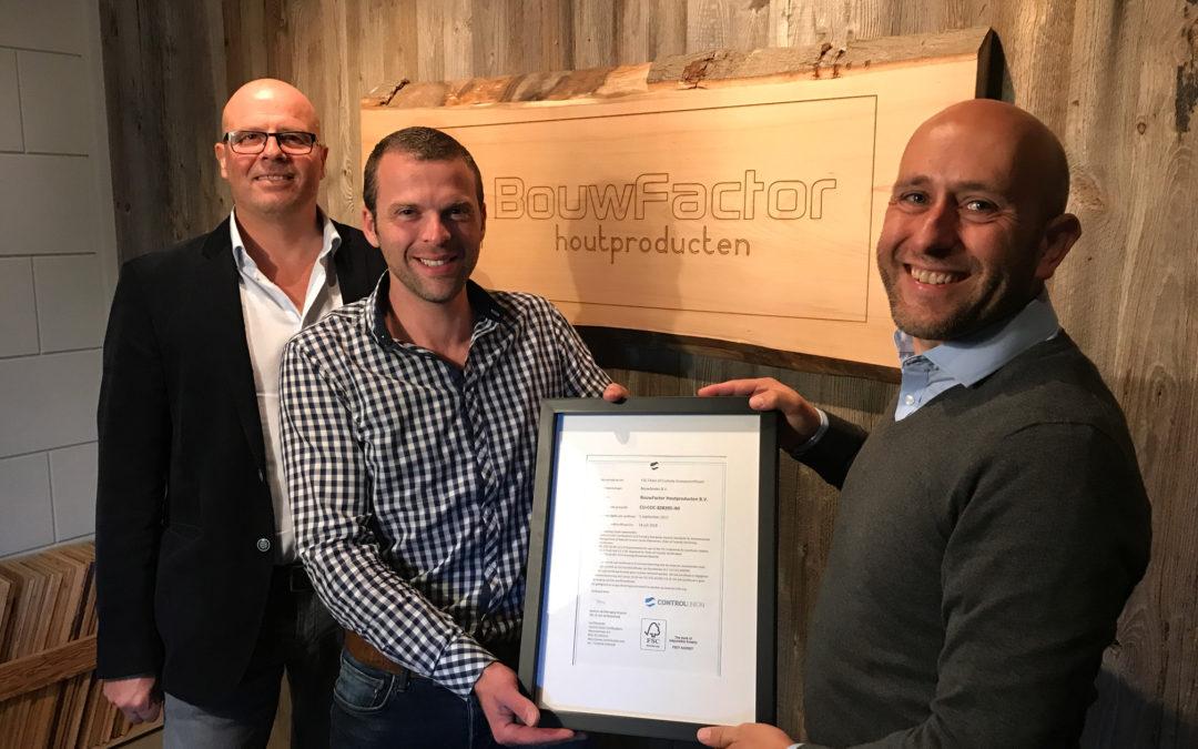 BouwFactor Houtproducten B.V. –> 200ste FSC®-groepslid van Bouwbinder B.V.